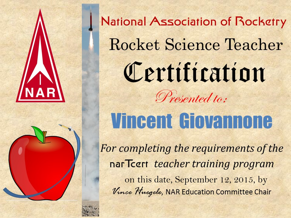 Welcome To Nartcert National Association Of Rocketry