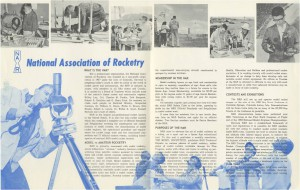 A NAR brochure from about 1960
