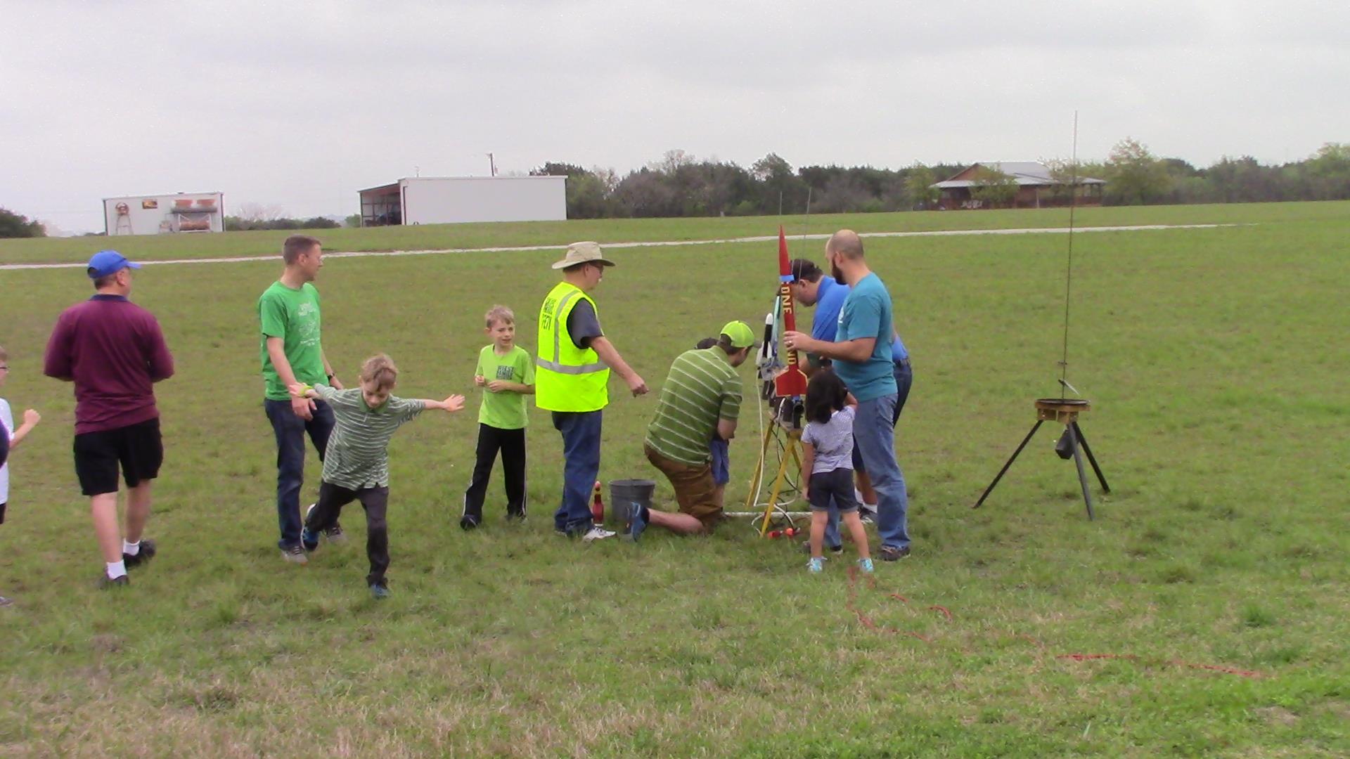 Family Friendly Model Rocket Launch